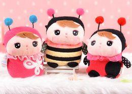 Мешки-мешки онлайн-Мультфильм METOO Детские плюшевые игрушки кошелек животное насекомое девушки склонный мешок плеча Дети Разменная камеры мобильного телефона пакет