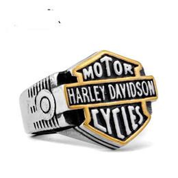 Wholesale Cheap Great Gifts - HARLY NEW arrival biker stainless steel ring hip hop jewelry cheap factory jewlery for free shipping