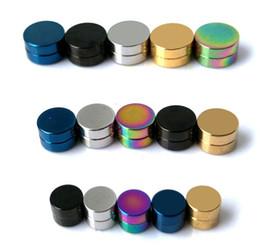 Canada boucle d'oreille de cercle de mode magnétique mélange de couleur de bonbons 24pcs / lot boucle d'oreille magnétique de boucle d'oreille ronde de 6mm Offre