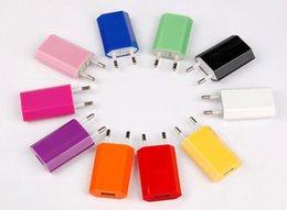 Meilleur vente 5 V 1000 mAh Coloré EU Prise USB Chargeur Mural Adaptateur secteur Chargeur secteur pour iphone 7 6 6G 4S 5 5S 5C Samsung Galaxy S8 S7 S6 ? partir de fabricateur