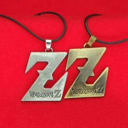 Wholesale men necklace dragon silver - Dragon Ball Z Pendant Necklace Ancient Silver Bronze DBZ Son Goku Saiyan sign pendants fashion jewerly for men women gift 161113