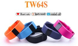Wholesale Dh Sports - Heart Rate Pulse SmartBand TW64S Pulso Inteligente Banda Pulse Measure Smart Band Sport Smart Wristband Health Fitness Tracker DH Free ship