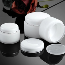 Wholesale Cosmetic Jar Pp Bottle - 15g 30g 50g Double Layer PP Cream Jar Bottle With White Lid Empty White Color Plastic PP Cosmetic Jar F2017871