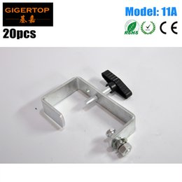 Wholesale Wholesale Iron Pipes - TIPTOP 11A 20 Pack Dura Clamp Light Duty C Clamp For 30-65mm Truss Pipe Load 30kg Stage Lighting Fixture Mounting Iron Materials