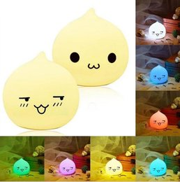 Wholesale Cartoon Wedding Gift - Mini Cartoon LED Colorful Silicone Water Drop Night Light Kids Baby Bedside Lamp Atmosphere Led Gift Lights For Children Friend b628