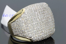 Wholesale Diamond Solid Gold Wedding Rings - 10K SOLID YELLOW GOLD 3.40 REAL DIAMOND ENGAGEMENT RING WEDDING PINKY RING