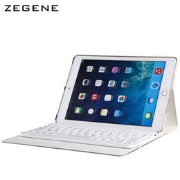 Wholesale Ipad Covers Rotations - Wholesale- Case For ipad Air1 Air2 9.7 inch Bluetooth Keyboard 360 Degree Rotation Cover Shell Removable Ultra-thin Protective Case Skin