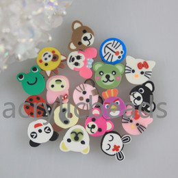 Wholesale Assorted Wood - Assorted Mix Bubble Gum Color Animal Shaped Pad Beads Flatback Resin Beads for Children's Toys Jewellery Making