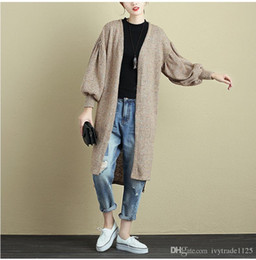 Wholesale Women Long Colorful Cardigans - New Fashion Women Long cardigan Sweater o-neck long sleeve Autumn Winter women's long colorful stripped Sweater comfortable