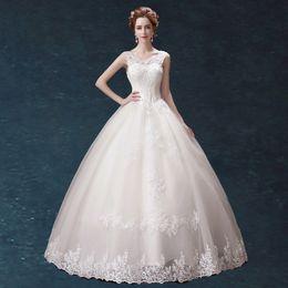Wholesale White Off Wedding Gloves - Wedding Dresses 022-DH Boat Neck Off Shoulder Floor Length White Lace Wedding Dresses With Free Veil+Petticoat+Gloves Vestido de noiva