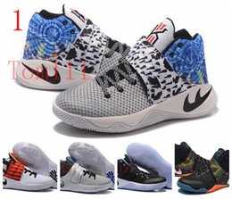 Wholesale High Quality Tie - 2017 FreeSHIPPING Kyrie 2 Basketball Shoes BHM Tie Dye high quality Sneakers Irving 2s gold Kyrie 2s sneaker shoes 41-46