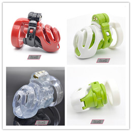 Wholesale Ring For Sex - New 3D Design Natural Resin Small Male Chastity Device Penis Cage with 4 Size Cock Ring BDSM Sex Toys For Men Bondage Cock Lock