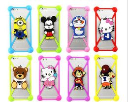 Wholesale Iphone Minion Silicone - 3D Cartoon Universal Silicone Case Bumper Case Minions Mickey For Iphone 7 7plus 6 6s Plus Samsung S6 Soft Cover