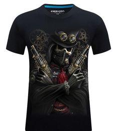 Wholesale Big Tall Shirts 5xl - fashion 3D T Shirt Hot New 3d Printed Cool pirate T Shirt Mens-6XL KANYE WEST Cotton T-Shirt for tall and big men suprem