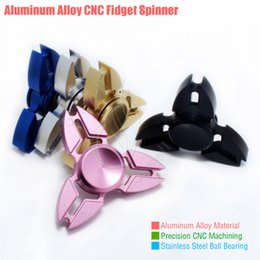 Wholesale Black Crab - Top Fidget Spinner Toys Triangle Hand Spinners Crab feet Aluminum alloy CNC EDC Finger Tip decompression novelty Rollover plush Cube Toy DHL