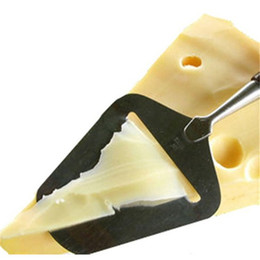 Canada Vente en gros- Fromage beurre Cutter En Acier Inoxydable Râpe Trancheuse Cuisine Pizza Pelle à Cuisson Gâteau Spatules Planer Pâtisserie Outil PC878437 cheap cheese shovel Offre