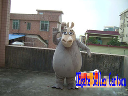 Wholesale Grey Hippo Costume - Customized gray hippo Mascot Costume Adult size free shipp