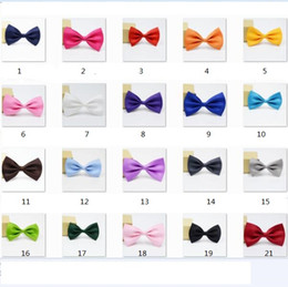 Wholesale boys silver bow tie - Bow ties 2017 for Wedding Party cute Candy colorful Adjustable Neckwear Children Kids Boy Bow Ties mens womens fashion accessories D090