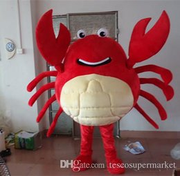 Wholesale Custom Crab Costume - free shipping High Quality Green and red crab cartoon Mascot Costume Halloween Christmas Birthday Props Costumes Fancy Dress0568