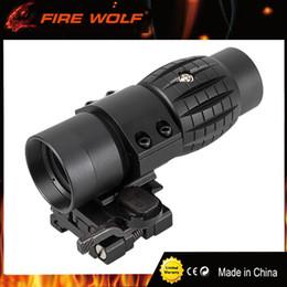 2019 montures optiques FIRE WOLF optique optique tactique loupe 3X portée lunette de visée pour lunette de visée compacte avec ajustement pour monture de rail de fusil de 20 mm montures optiques pas cher