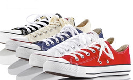 Wholesale Men Shoes Factory Price - Fast shipping size 35-45 Factory price promotional price!femininas canvas shoes women and men,high Low Style Classic Canvas Shoes Sneakers