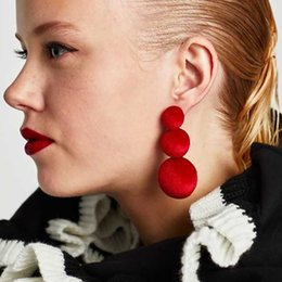 Wholesale Fashion Cheap Handmade Earrings - Best lady 2017 New Fashion Ball Dangle Earrings Statement Women Bohemian Wedding Handmade Hot Sale Cheap Drop Earrings Jewelry