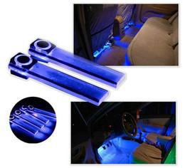 Autoinnenraum LED-Atmosphärenlichter - 4in1 12V Premium-Qualität Autoinnenraum Blau / RGB LED-Atmosphärenlichter Stehleuchte von Fabrikanten