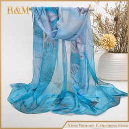 Wholesale Arabic Scarfs - Wholesale- from india promotion 2017 print chiffon scarves woman thin shawl turban belt wholesale hijab fashion arabic scarfs wrap qsr