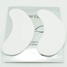 Wholesale Lint Free Eye Gel Patches - Wholesale New 50pairs Lint Free Under Eye Patch Pads for Eyelash Extension Gel Thin Patches Free shipping