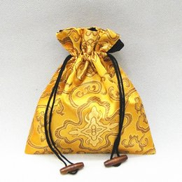 Wholesale Silk Cloth Drawstring Bags - Luxury Drawstring Large Gift Bag Silk brocade Cloth Packaging Jewelry Necklace perfume spices Storage Pouch Candy Tea lavender Favor Bags