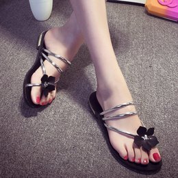 Wholesale Comfortable Gold Sandals - The new summer shoes color flowers all-match flat comfortable casual sandals sandals
