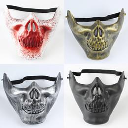 Wholesale Animal Skull Masks - Masquerade Mask Halloween Men And Women Cosplay Skull Head Half Face Vizard Masks Festival Party Supplies 1 2ms C R