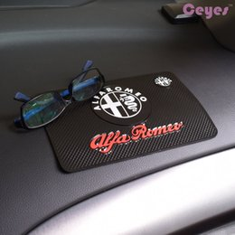 Wholesale Alfa Romeo 166 - Auto Car Emblems Non-Slip Mat for ALFA ROMEO 4c 8c 166 159 Powerful Anti Silp Dashbroad Car Accessories Styling