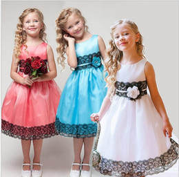 Wholesale Tea Length Holy Communion Dresses - 2016 New Flower girl dresses for weddings pageant white first holy lace communion dress little toddler junior child bridesmaid