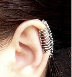 Wholesale Bones Clip - e033 2016 Punk style skull spine earrings no pierced ear clip bone earrings ear cuff (Free Shipping)