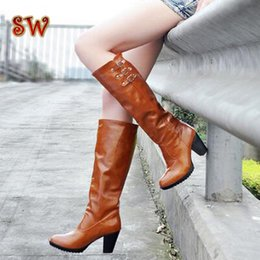 Wholesale Warm Long Shoes For Woman - Wholesale-Free Shipping Waterproof boots shoes ankle ladies warm long half boot over the knee snow boots for women winter big size C669-6