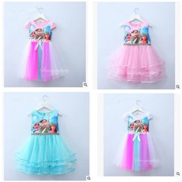 Wholesale Baby Girl Clothes 3t - Baby Girls Dresses Kids Clothing Moana Princess Summer Cosplay Kids Dress for Girl Ball Gown Wedding Party Costume Cartoon Dress