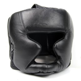 Wholesale Geared Head - Promotion Black Good Headgear Head Guard Training Helmet Kick Boxing Protection Gear Sport Fitness Supplies Good Quality