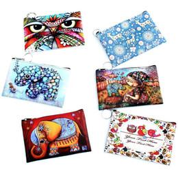 Wholesale Han Bags - Hot cake Ms han edition cartoon zero wallet girl purse graffiti animals The elephant owl bag printing CB034
