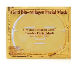 Wholesale Gold Crystal Face Mask - 5PCS Gold Bio-Collagen Facial Mask Moisturizing Face Mask Crystal Gold Powder Collagen Face Mask Whitening Anti-aging Face Skin Care