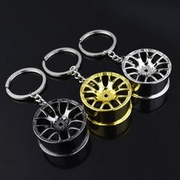 Argentina Cadena del cubo de la rueda de aleación de zinc de metal llavero colgante llavero del coche creativo para auto hombre más fancier regalo de navidad de las mujeres 4 color FA052 Suministro
