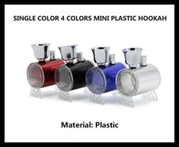Shisha de cristal online-Mini Plástico Hookah cuatro colores Shisha Hookah Tubo de Tabaco Portátil Vs Crystal Pipe precio al por mayor