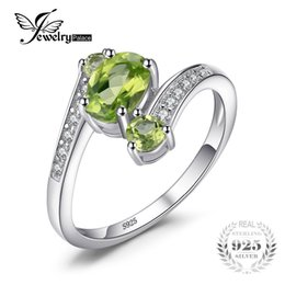 Wholesale Vintage Peridot Jewelry - JewelryPalace 3 Stones Natural Peridot Ring Gemstone Solid 925 Sterling Silver Women Hot Fabulous Vintage Charm Fine Jewelry