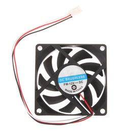 Wholesale Heat Sink Cooler - 70x70x15mm DC 12V 3pin Portable Computer Cooler Small PC CPU Cooling Fan Heat sink Free shipping & wholesale