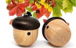 Wholesale J2 Wireless Bluetooth Speakers Portable Mini Cute Wooden Nut Model Outdoor Surround Stereo MP3 Music speaker for mobile phones