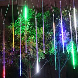Wholesale Decoration Shower - 2015 20CM 30CM 50CM Meteor Shower Rain Tubes LED Mini Meteor Lights LED Strings Light 8pcs LED Light For Christmas Wedding Garden Decoration