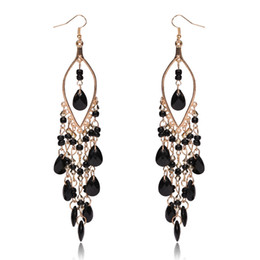 Wholesale Earrings Direct Selling - Earrings Promotion Direct Selling Women Brincos Sterling Jewelry New Arrival Peacock Shape Long Tassel Drop Earrings