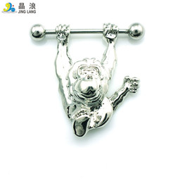 Wholesale Orangutan Halloween - Promotion! DIY New Arrival Wholesale High Quality Fashion Metal Silver Orangutan Belly Button Rings For Women Body Jewelry