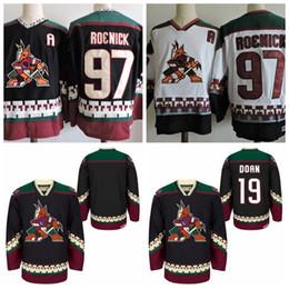 Wholesale Ccm Jersey Cheap - 1998 CCM Vintage 19 SHANE DOAN Phoenix Coyotes Throwback Hockey Jersey 97 JEREMY ROENICK Stitched black jerseys Cheap Mens