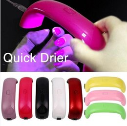 light cure Promo Codes - Mini Rainbow Nail lamp Art led 9W 3pcs LED Light lamps Bridge Shaped Mini Curing Nail Dryer Nail Art Lamp Care Machine for UV Gel USB Cable